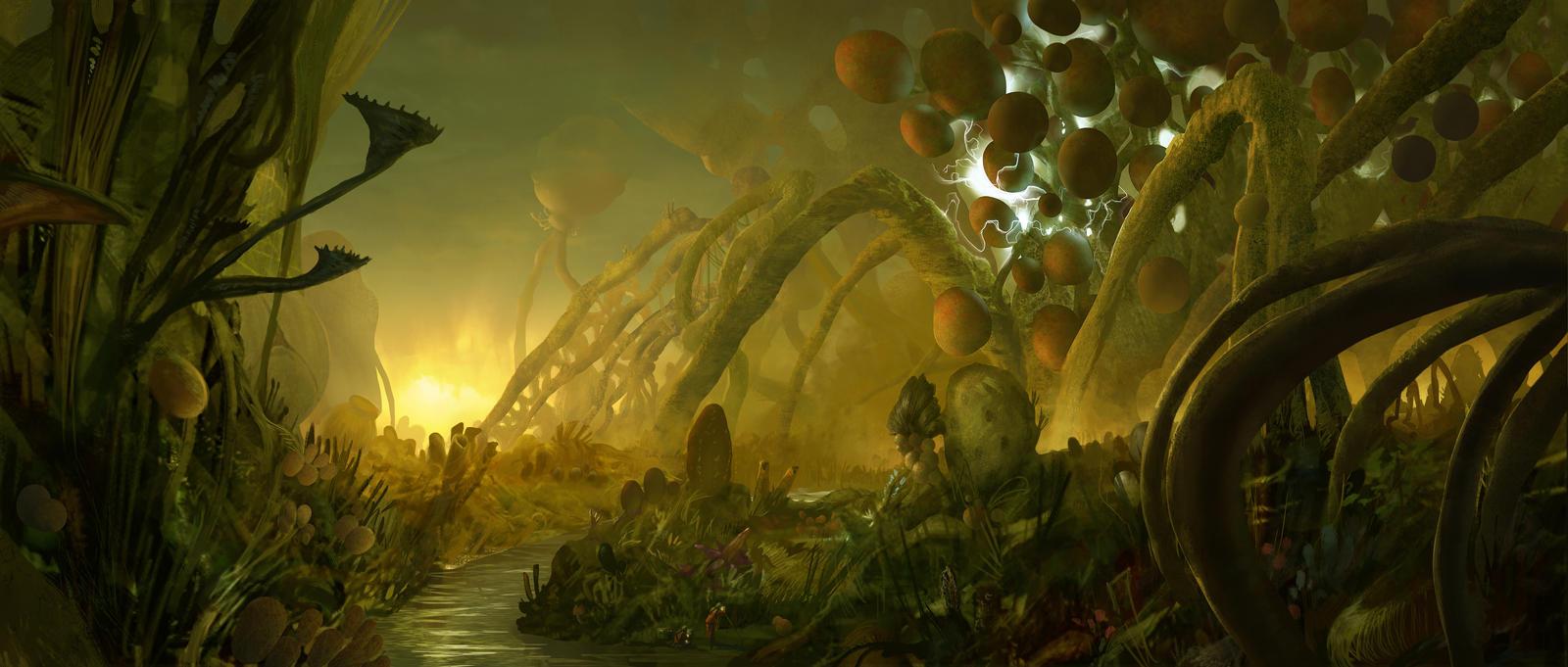 sci fi landscape alien planets - photo #43