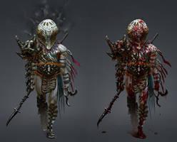 Dark Elf Gladiator by Chenthooran