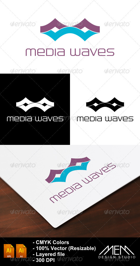 Media Waves Logo by mohammed6651