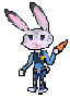 Pixel Judy hopps by minimoose1231