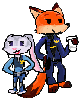Nick And Judy cops by minimoose1231