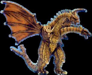 Cretaceous ghidorah render by godzilla199999