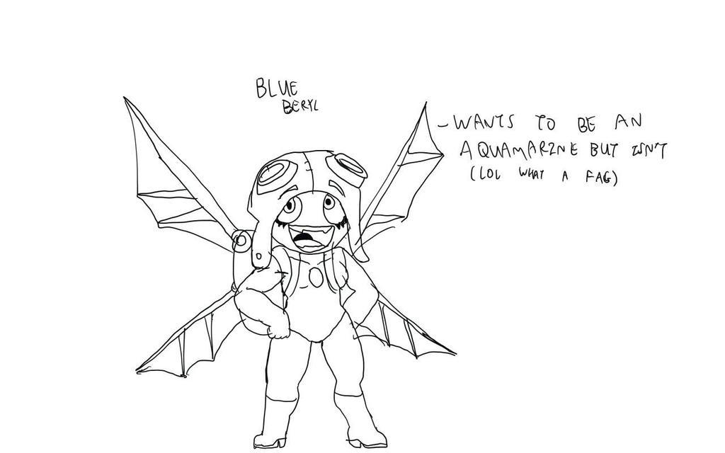 Rebel Gems Joke Character: Blue Beryl by Batterymaster