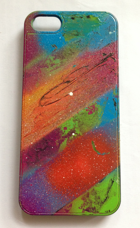 Custom spray paint iphone case by ljc93 on deviantart for Spray paint phone case