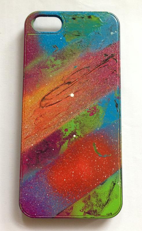 Custom spray paint iphone case by ljc93 on deviantart for Spray paint iphone case