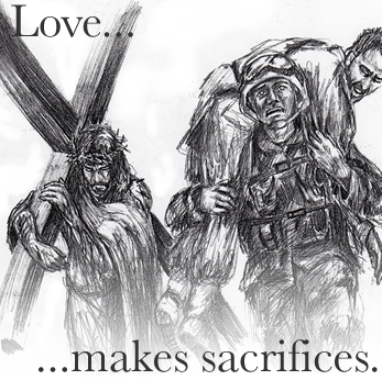 love is all about sacrifices A sacrifice is a loss or something you give up, usually for the sake of a better cause  but thankfully those kinds of sacrifices don't happen anymore.
