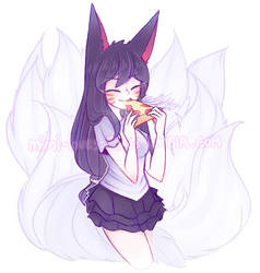 Ahri gets pizza!