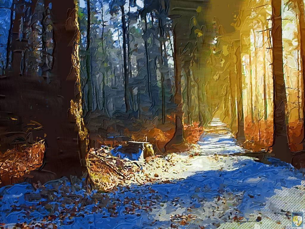 blue snow under the sun by imageking10