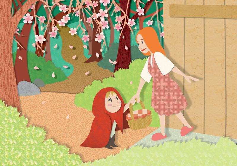 Little Red Riding Hood - Spring by christina-masci-art