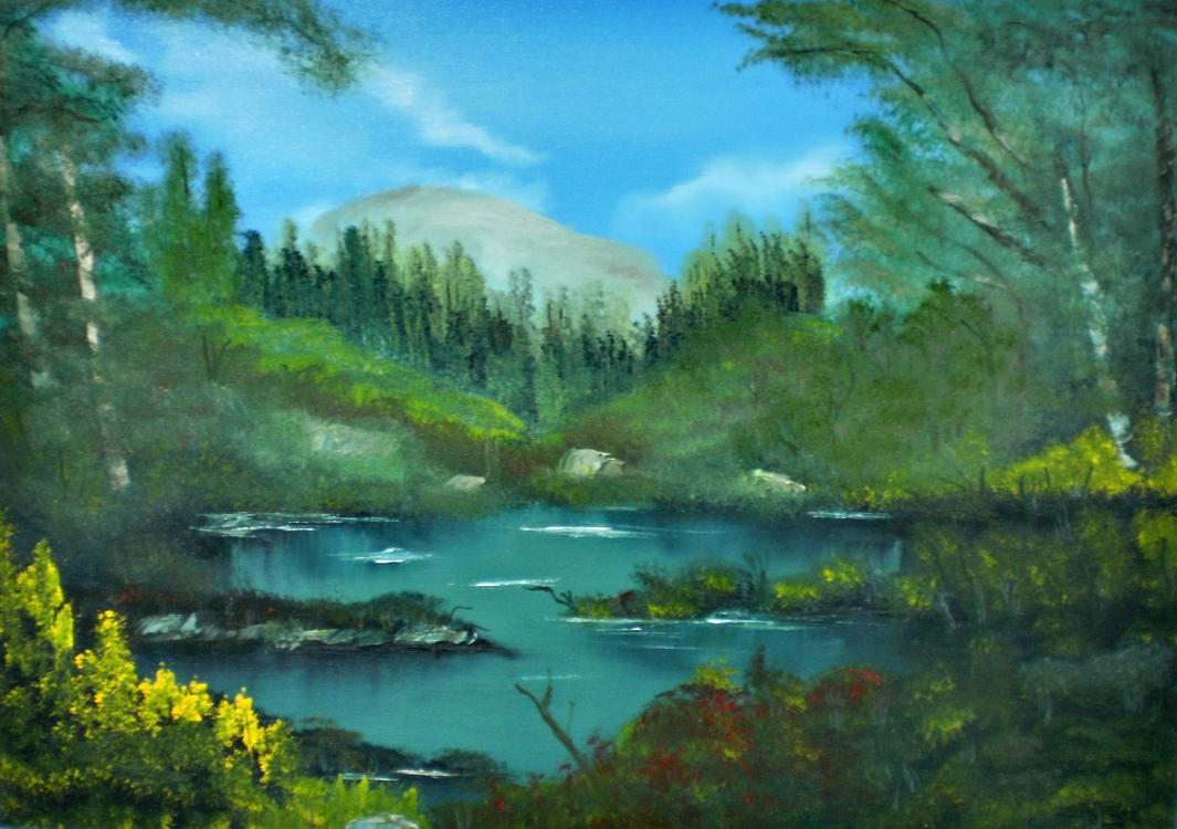 Tropical Scene II by Natan-Estivallet