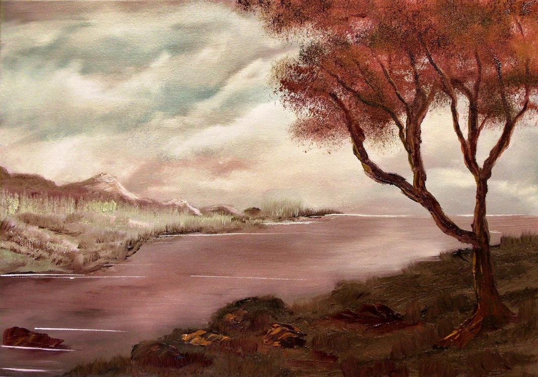 Purple Landscape by Natan-Estivallet