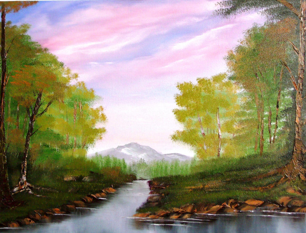 Nature art painting easy the image kid for Mural simple