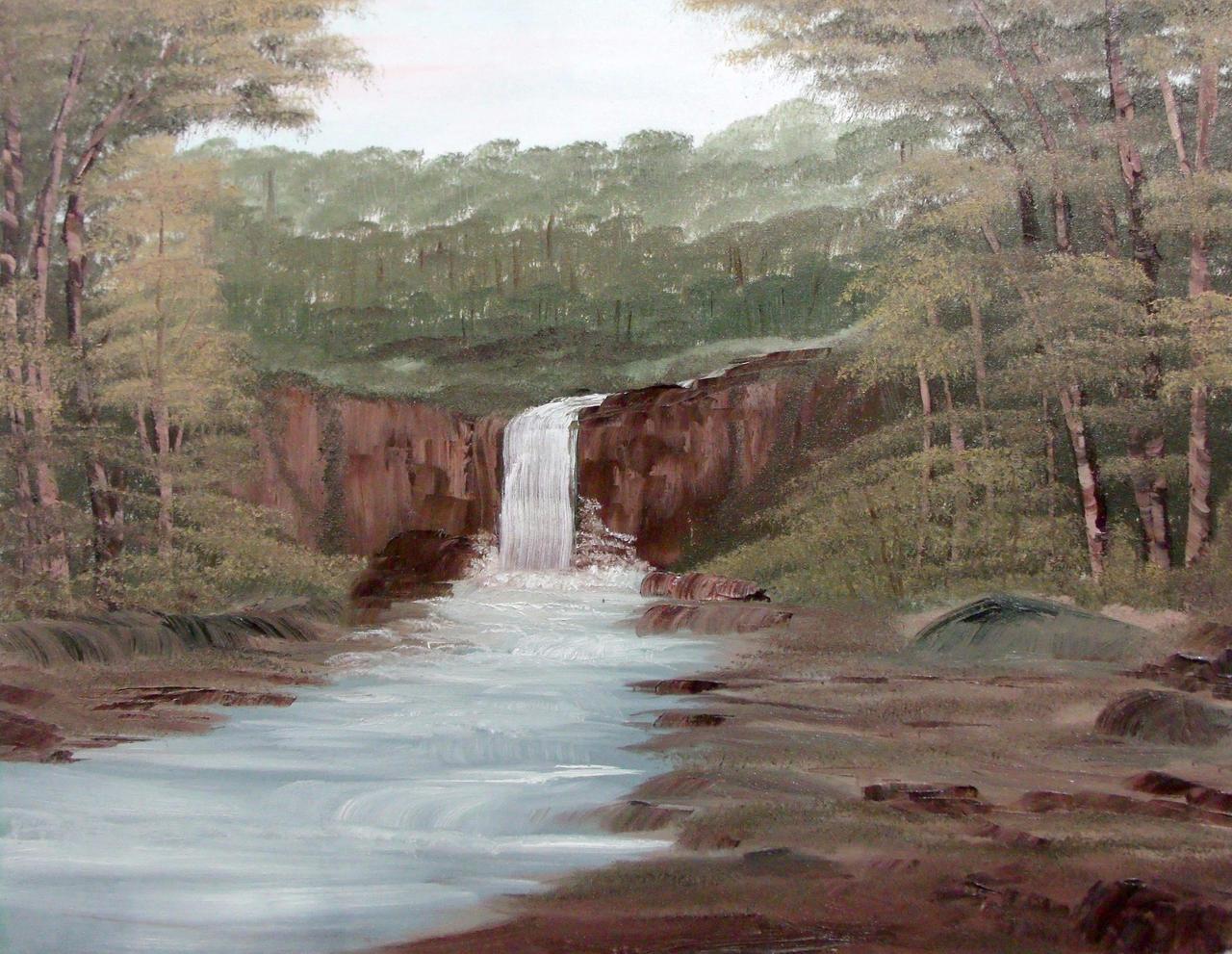Melancholic Waterfall by Natan-Estivallet