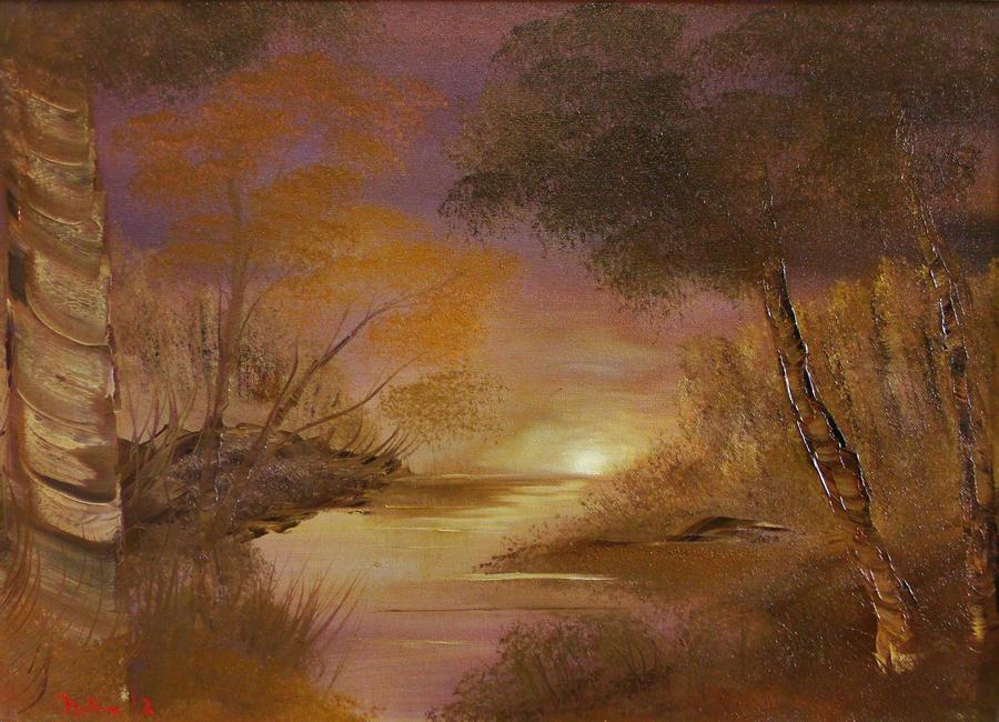 Purple Sunset by Natan Estivallet by Natan-Estivallet
