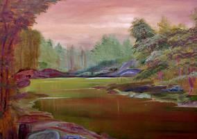 Green Lake Springtime by Natan-Estivallet