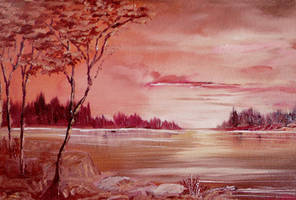 Warm Sunset by Natan-Estivallet
