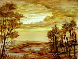 Watercolour Landscape 2014 by Natan Estivallet by Natan-Estivallet