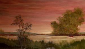 Violet Landscape by Natan-Estivallet