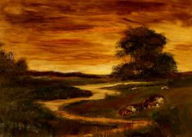 Golden Sunset by Natan Estivallet by Natan-Estivallet