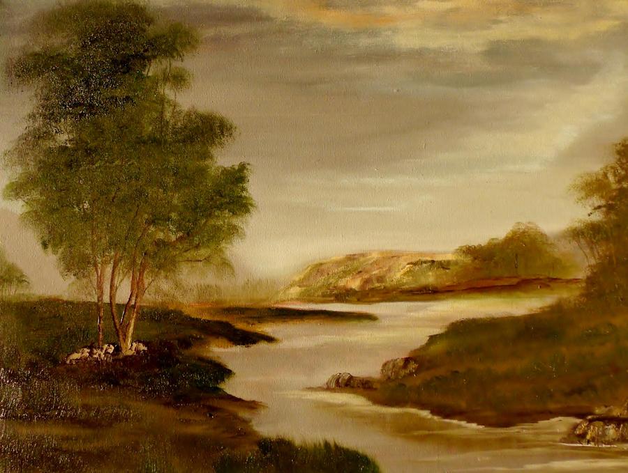 Green Landscape by Natan-Estivallet