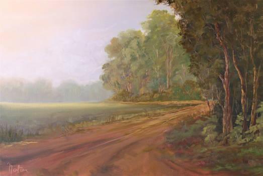 Landscape painting by Natan Estivallet