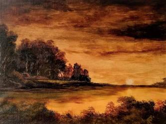 Orangy Landscape by Natan-Estivallet
