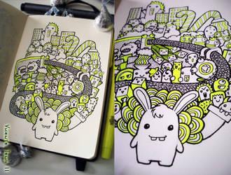 Doodle: Rabbit's mind by vicenteteng
