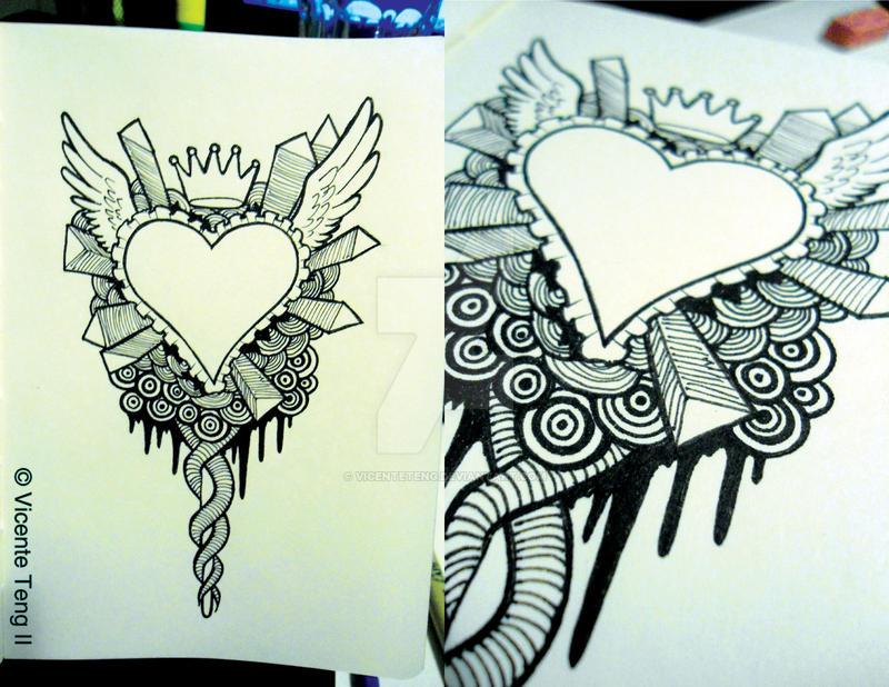 Line Art Valentine : Doodle: happy valentine's day! by vicenteteng on deviantart