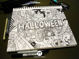 DOODLE: HALLOWEEN by vicenteteng