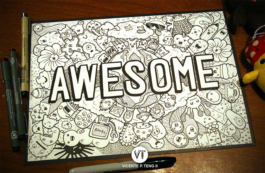 DOODLE: AWESOME MONSTERS!!! by vicenteteng
