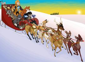 Comic Character Sleigh Ride