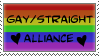 Gay Straight Alliance Stamp by Lordfell