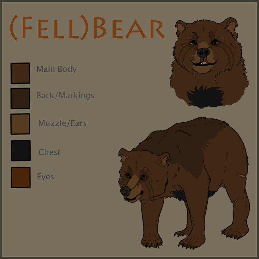 (New Fursona!) FellBear Reference by Lordfell