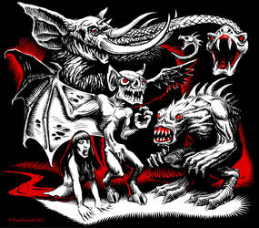 Malus Malice - Halloween T-shirt design by nightserpent