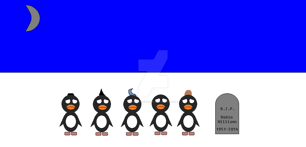 The Five Amigos Watching Robin Williams Gravestone By SuperMarioFan65