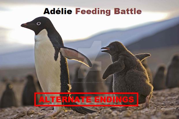Adelie Feeding Battle (Alternate Endings) Title by SuperMarioFan65