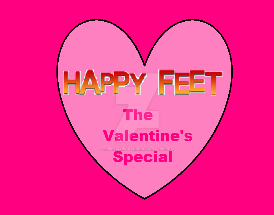 Happy Feet: The Valentine's Special Logo by SuperMarioFan65
