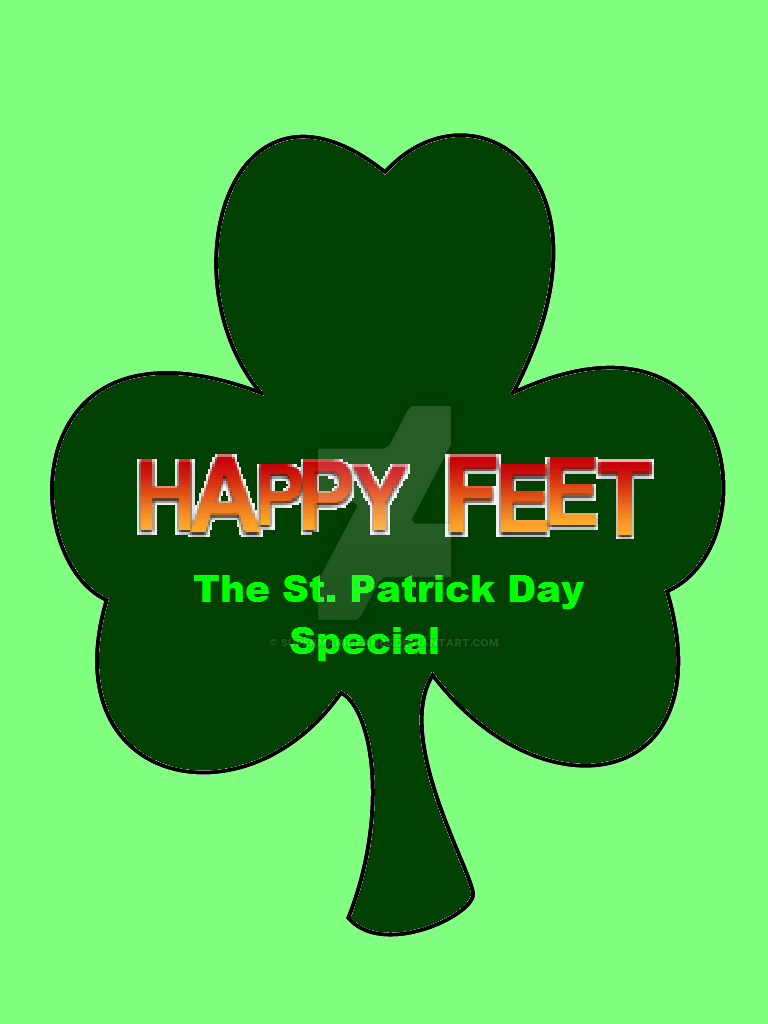 Happy Feet: The St. Patrick's Day Special Logo by SuperMarioFan65