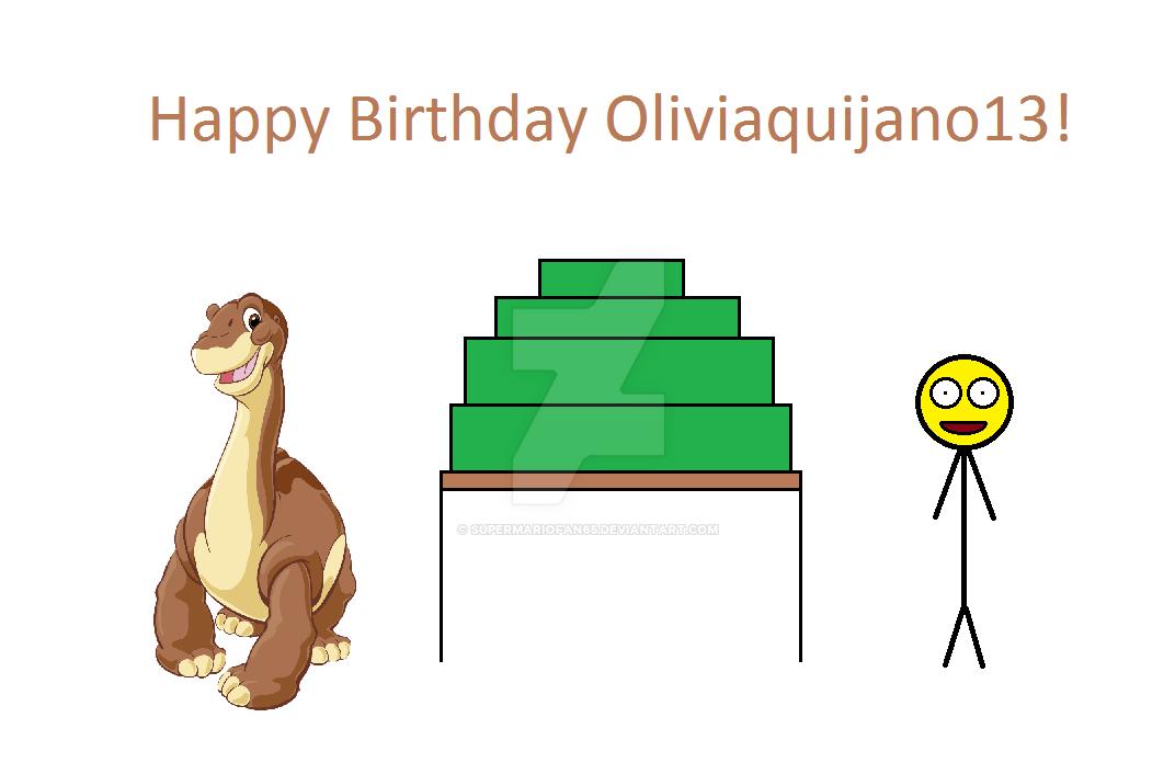 Happy Birthday Oliviaquijano13 by SuperMarioFan65