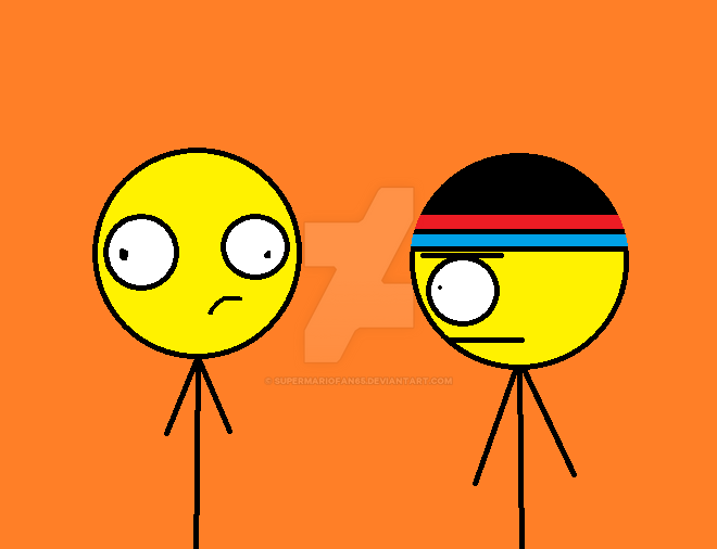 Weird Lazy Stickman and Joe by SuperMarioFan65
