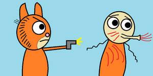 Garfield kills John Edlinger (OLD, CRINGE)