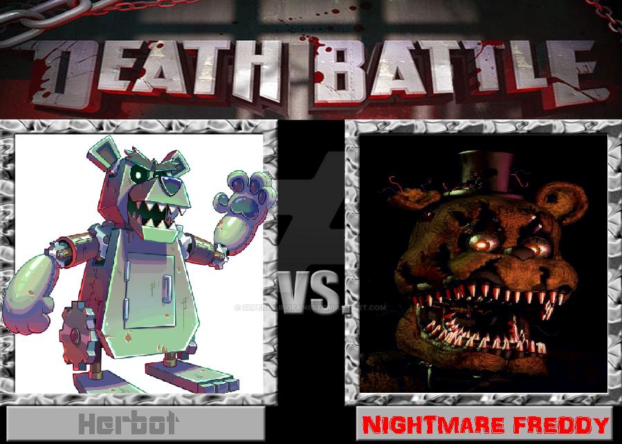 Death Battle - Herbot vs Nightmare Freddy by SuperMarioFan65