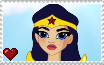 DC Super Hero Girls - Wonder Woman Stamp by SuperMarioFan65