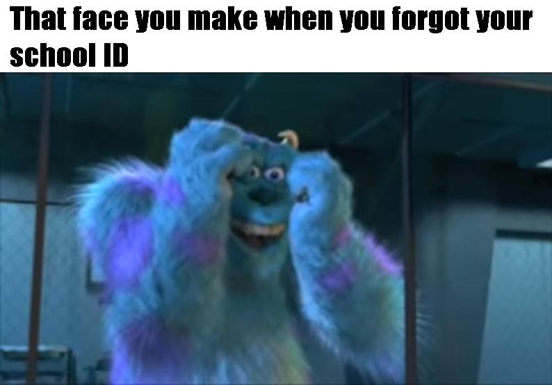 Monsters Inc School Id Meme By Supermariofan65 On Deviantart