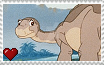 The Land Before Time II - Littlefoot Stamp by SuperMarioFan65