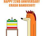 Crash Bandicoot's 22nd Anniversary