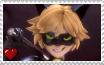 Miraculous Ladybug - Cat Noir Stamp by SuperMarioFan65