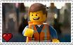 The Lego Movie - Emmet Brickowski Stamp