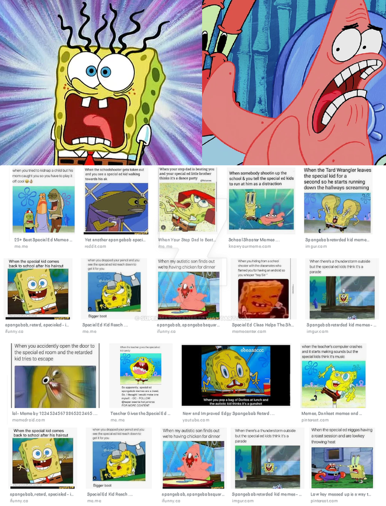 Spongebob And Patrick Reacts To Special Ed Memes By Supermariofan65