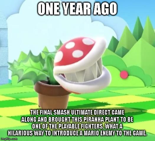 Super Smash Bros Ultimate Piranha Plant Meme By Supermariofan65